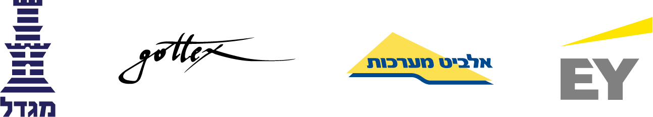 Clients Logos - Migdal Insurance, Gottex, Elbit Systems, EY